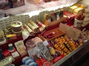 Cheeses, meats, and other tasty treats