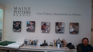 Entrance to Maine Potters Market, staffed by David Orser