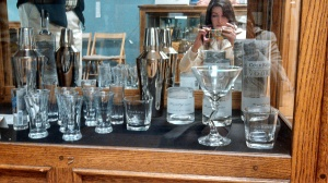 Getting my picture of the lovely, etched glasses