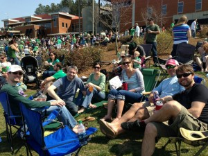 Enjoying a sunny, 70 degree day with good friends in Charlotte, NC.  Happy St. Patrick's Day!