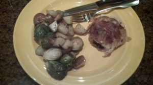 Yum! I served this with roasted potatoes and brussel sprouts, and the chicken nearly falls apart from the slow cooking.