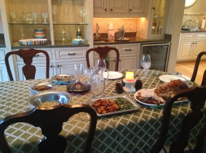 Our Thanksgiving table for two!